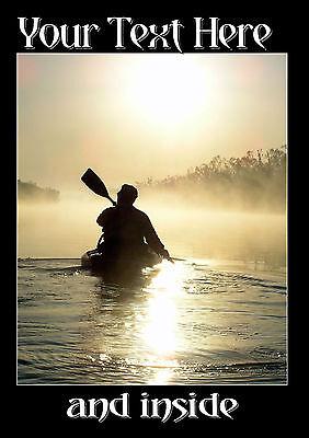 Canoeing Personalised Birthday Card