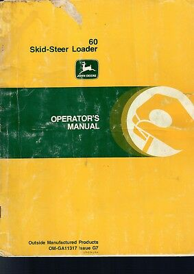 John Deere 60 Skid Steer Loader Operators Manual Service Repair 64 Pgs