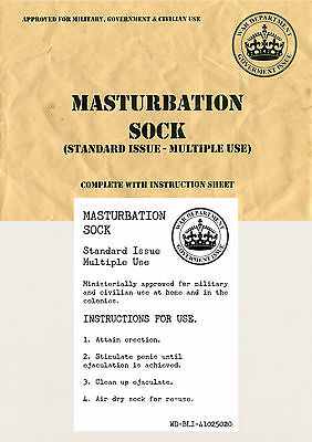 Military Issue Masturbation Sock ~ Adult Novelty Gift / Joke / Prank / Army