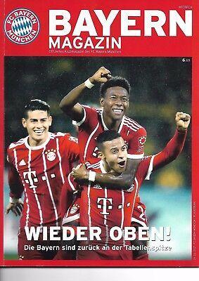 Bayern Magazin vom 18.11.2017 Offizielles Klubmagazin  FC Bayern - FC Augsburg