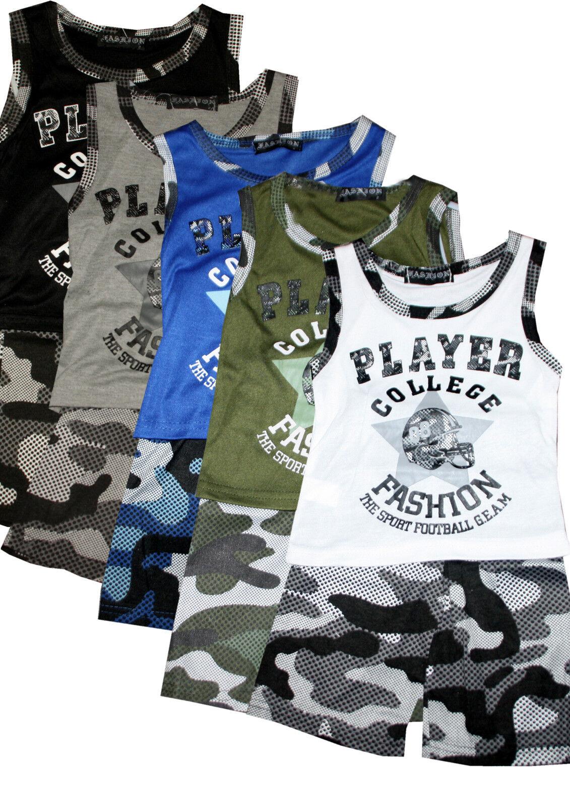 Kindersommer Set, Top und Shorts, Sportset, Camounflage, 2- Teiler