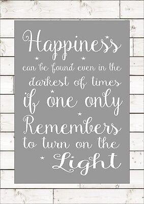 HAPPINESS CAN BE FOUND IN THE DARKEST OF TIMES HARRY POTTER Print Poster A4