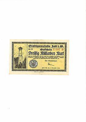 Rupertus 366.15 Notgeldschein Stadt Zell i.W.  30 Mrd Mk  1.11.1923