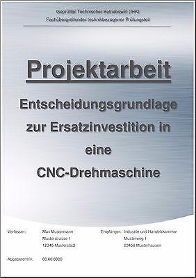 Technischer Betriebswirt TBW Projektarbeit & Präsentation Note 1 CNC