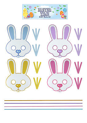 Bunny Toys Diy (4 Easter DIY Craft Masks - Toy Loot/Party Bag Kids Bunny Sheep Make Your)