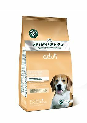 Arden Grange Pork & Rice Adult Dog Food 2kg