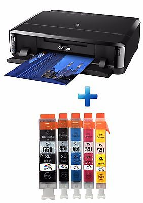 Canon PIXMA iP7250 Inkjet Colour Photo Printer USB Wi-Fi plus 1 set of XL Inks