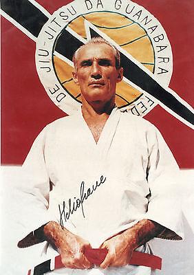 GrandMaster Helio Gracie signed picture bjj brazilian jiu jitsui jkd ufc