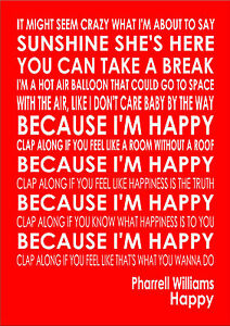 Happy - Pharrell Williams - Word Typography Words Song ...