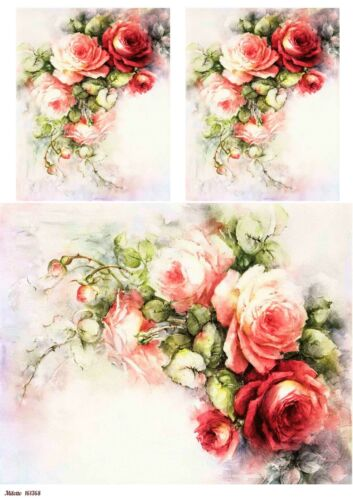 Rice paper decoupage 161368 napkin vintage Decoupage supplies flowers rose