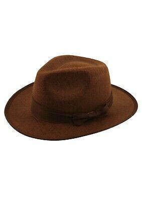 Erwachsene Herren Safari Indiana Jones Explorer Dschungel Kostüm Fedora Hut