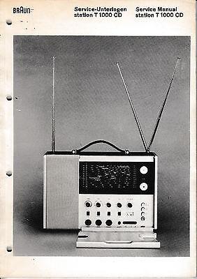 Service Manual-Anleitung für Braun T 1000 CD
