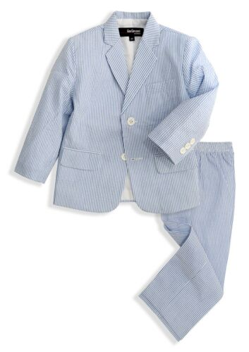 G288 Gino Giovanni Boys Seersucker 2 Button Suit Set