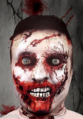 Scary Halloween Face Mask Zombie V1 3D Effect Grim Reaper Fancy Dress Horror