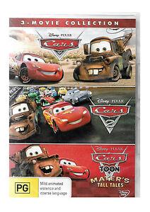 Cars Disney Pixar 3 Movie Collection 1 2 3 BRAND NEW SEALED R4 DVD