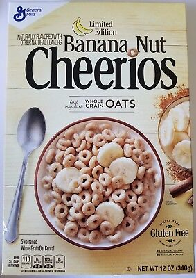 NEW BANANA NUT CHEERIOS CEREAL 12 OZ LIMITED EDITION FREE WORLDWIDE SHIPPING