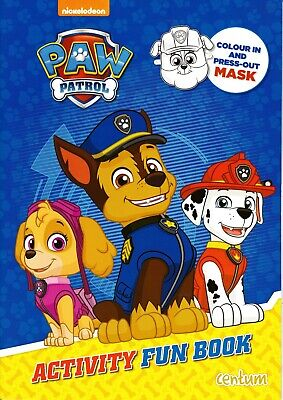 Paw Patrol Activiy Fun Book. Kids Children's Activity Book Gift.