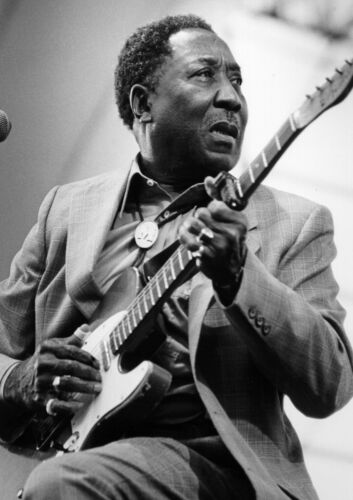 """Reproduction """"Muddy Waters"""" Poster, Blues, Wall Art, Vintage Print"""