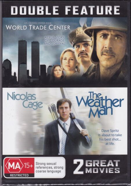 WORLD TRADE CENTER & THE WEATHER MAN - NICOLAS CAGE DOUBLE FEATURE - DVD