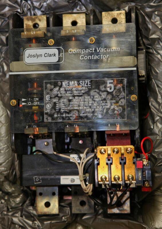 Joslyn Clark Vacuum Contactor Nema Size 5   Cat# CVS13UO30506-46