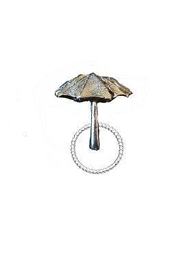Parasol Umbrella 2.2x2.5cm ft110 Brooch drop hoop Holder Glasses, Pen, ID