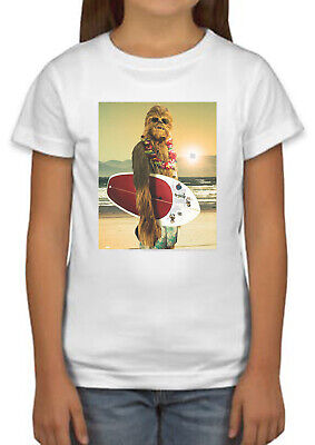 Star Wars Chewbacca Funny Surfing T-shirt boys girls holiday gift unisex 1006