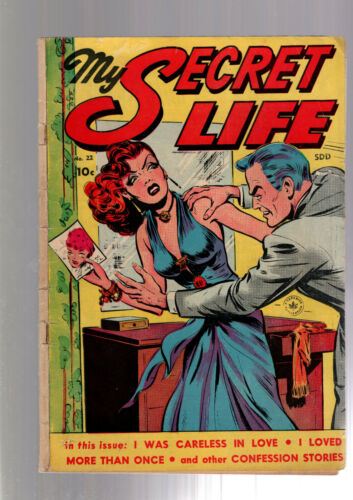 MY SECRET LIFE #22 (1st ISSUE IN SERIES) PRE CODE RACY GOOD GIRL ART 1949