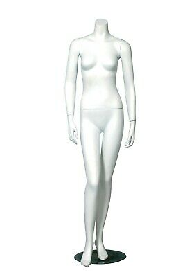 Headless Female Mannequin Fiberglass Clothing Display- Matte White - Erica-1