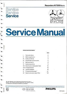 Service Manual-Anleitung für Philips N 7300