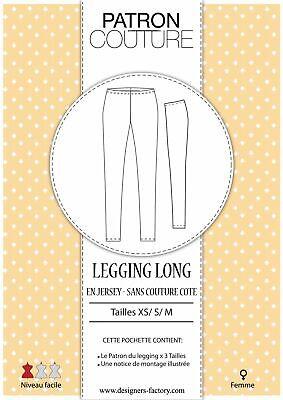 Pack 3 tailles - XS, S et M - Patron Legging femme...