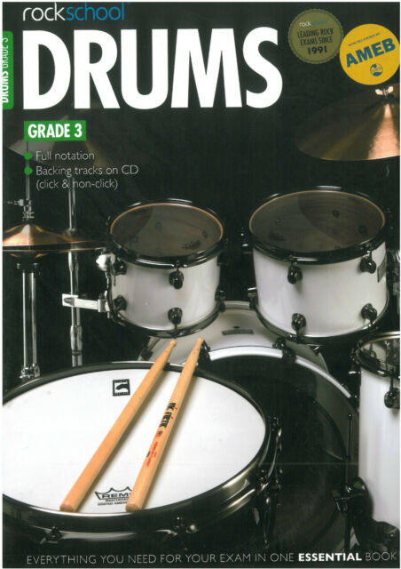 Rockschool - Drums Grade 3  - RSK051222  ***** NEW