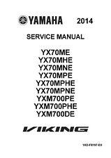 Yamaha service manual 2014 Viking 700 YXM700PHE, YXM700DE
