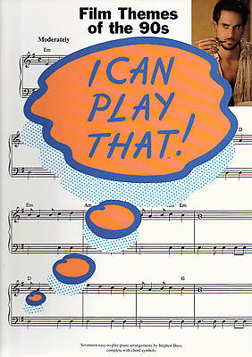 Themes Of The 90s (I Can Play That FILM THEMES OF THE 90s Easy Piano Sheet Music Book Shop)