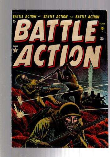 BATTLE ACTION #3 ATLAS/MARVEL GOLDEN AGE PRECODE WAR COMIC 1952 RUSS HEATH ART