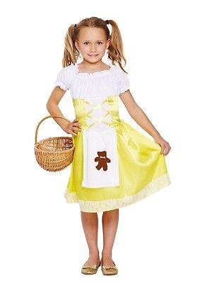 GIRLS PORRIDGE GIRL GOLDILOCKS FANCY DRESS COSTUME OUTFIT WORLD BOOK WEEK DAY - Girls Goldilocks Costume