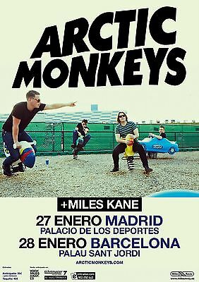 ARCTIC MONKEYS 2012 MADRID BARCELONA CONCERT TOUR POSTER - Indie Rock Music