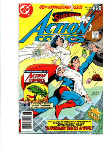 Action Comics #484 newsstand - Superman Gets Married - 1978 - VF/NM