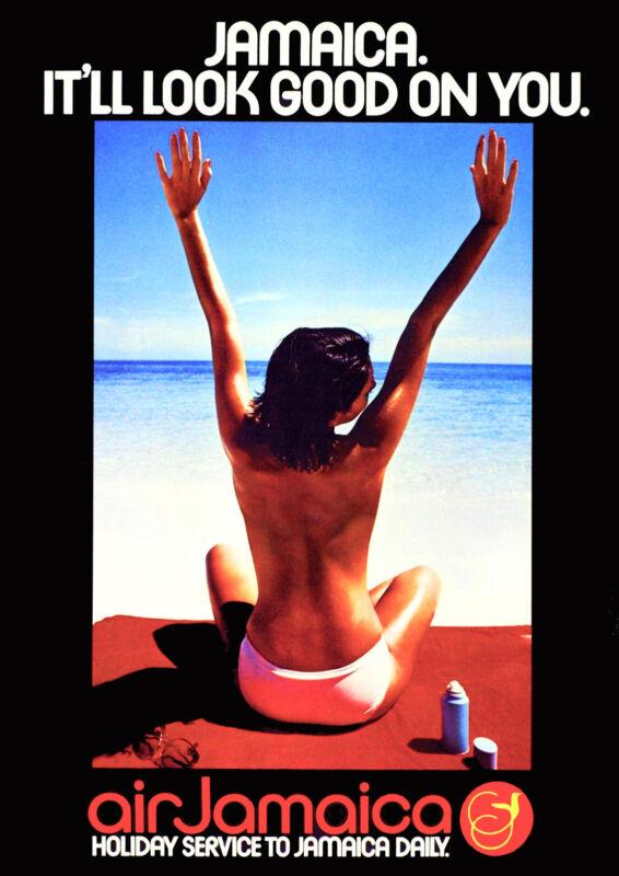 Jamaica Jamaican Caribbean Island Sea look good Travel Art Poster Advertisement