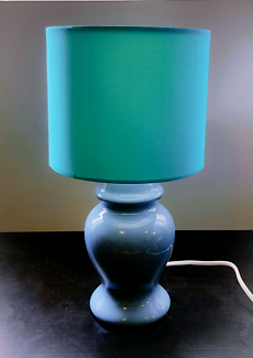 Blue and Teal Lamp