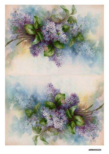 Rice paper decoupage arm0000224 napkin vintage lilac Bijou-Master supplies craft