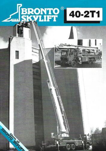 Equipment Data Sheet - Bronto Skylift - 40-2T1 Aerial Ladder - Brochure (E6835)