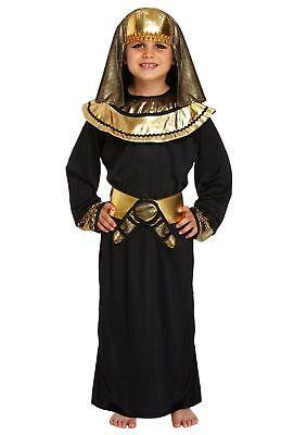 Jungen ägyptischen Kostüm (Die Ägyptische Pharao Kostüm Jungen Kostüm Historisch kinder-outfit schwarz gold)