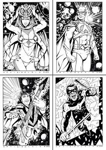 ORIGINAL A4 COMIC ART COMMISSION BY COMIC PRO DAVID GOLDING MARVEL DC IMAGE IDW