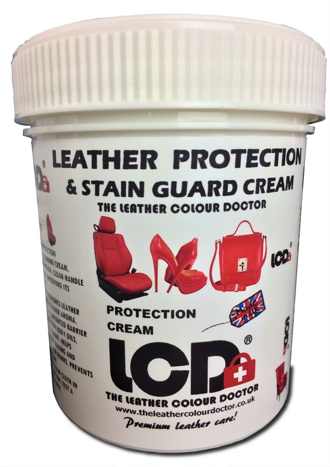 Leather protection stain guard cream conditioning balm with added leather aroma