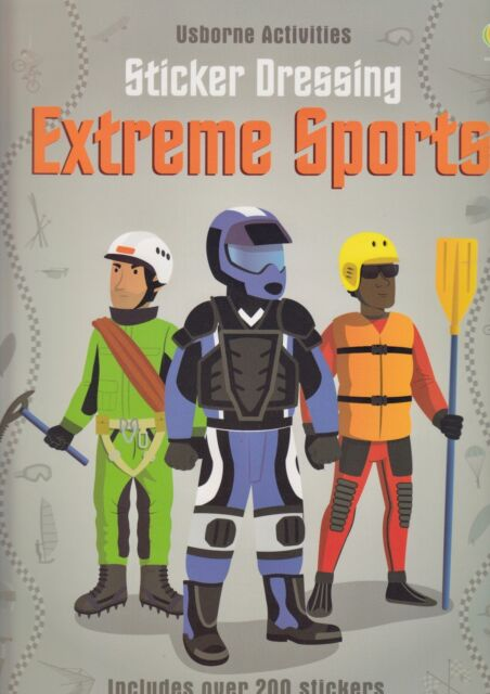 Usborne Activities Sticker Dressing Extreme Sports BRAND NEW (Paperback 2013)