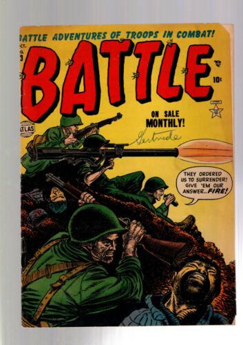 BATTLE #13 ATLAS / MARVEL GOLDEN AGE PRE CODE WAR COMIC 1952 RUSS HEATH ART