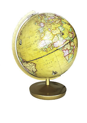 Light Globe Terracotta Renaissance 26cm Messingfarbenden Merian Antique Globe