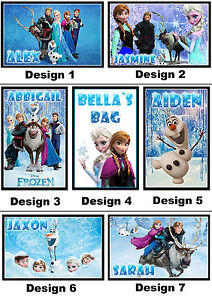 Personalised Frozen Key Ring - Bag Tag w/ name - 7x5cm Keyring Chain - Gift Idea