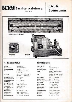 Service Manual-Anleitung für Saba Sonorama