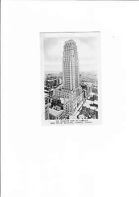 The  Canadian Bank of Commerce Black and White  Postcard